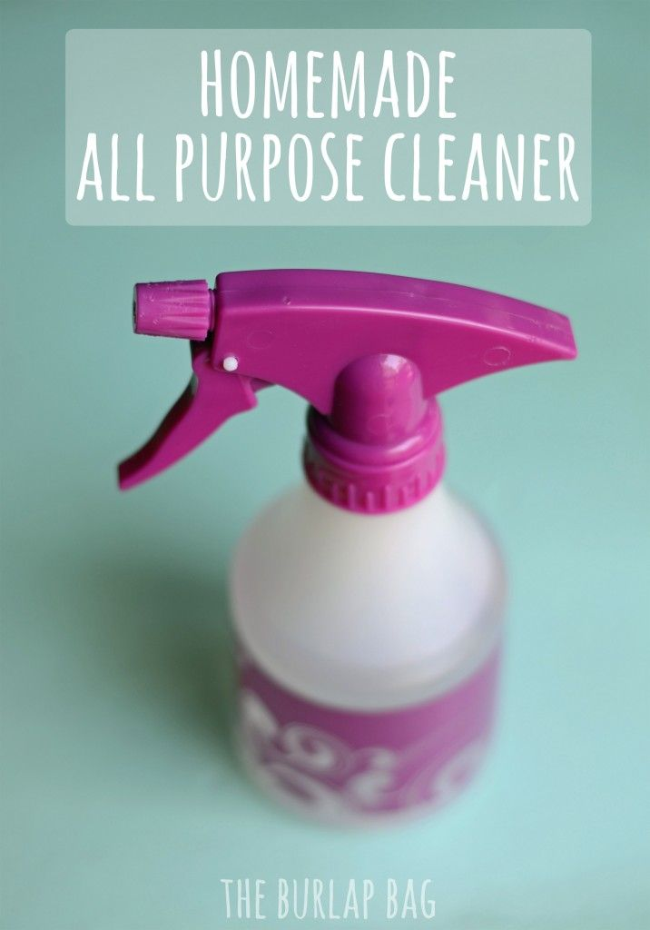 homemade all purpose cleaner ~~ nontoxic, cheap, and super easy!