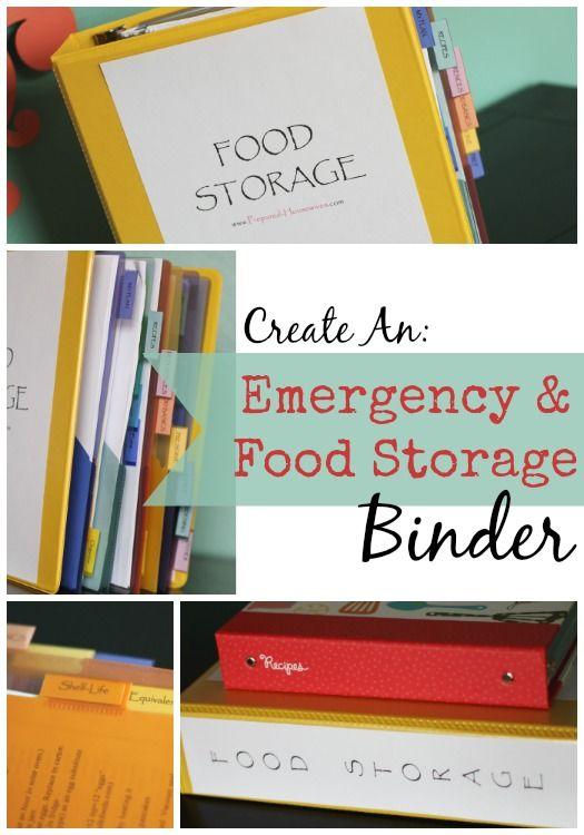 Create Your Own Emergency Preparedness & Food Storage Binder