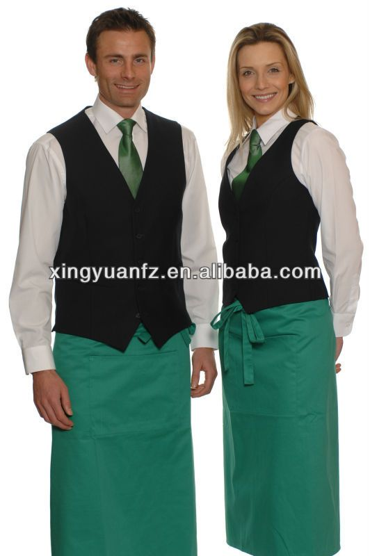 Hotel restaurant uniform for waiters and waitress 20 3 for Uniform spa italy