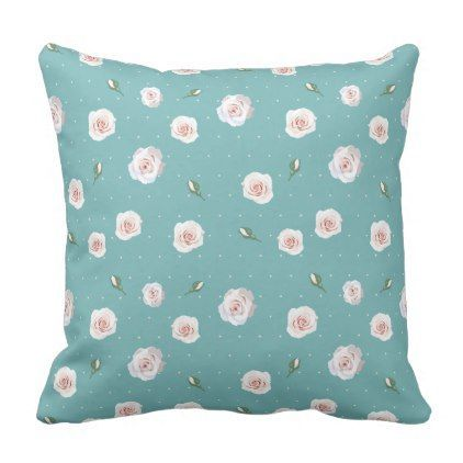 Romantic gifts 4010 pinterest flower white roses with polka dots throw pillow saint valentines day gift idea couple negle Images