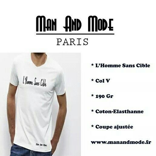 L'Homme Sans Cible by Man And Mode #paris #clothing #frenchbrand #teeshirt