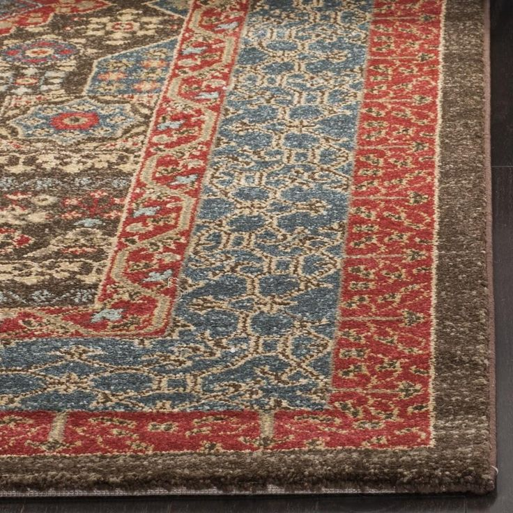 MAH620C Rug from Mahal collection.  Classic Persian motifs that have graced elegant rooms for centuries are celebrated in richly colored Mahal area rugs. Power-loomed of long-wearing and easy-care polypropylene yarn, these elaborately detailed rugs are suitable for high traffic areas.