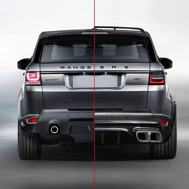 The Reverelondon Hsr Edition Of The Range Rover Sport Before And After Comparison Produced For The Www Reverelondon Range Rover Sport Range Rover Land Rover