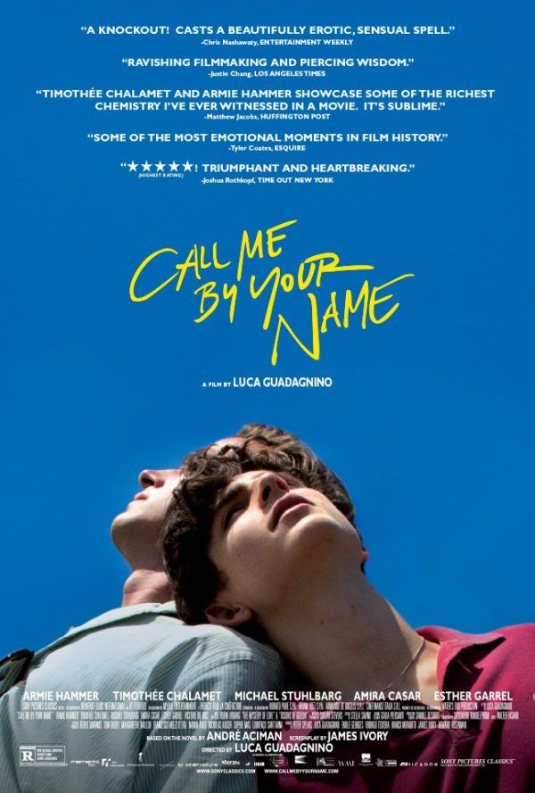 First poster for Call Me By Your Name starring Armie Hammer and Timothee Chalamet
