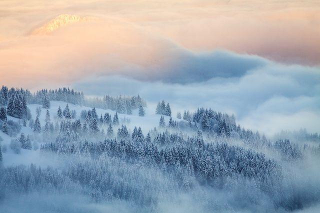 アルプスと夜明けの光(フランス)