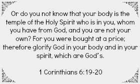 Motivational Bible verse for staying healthy!