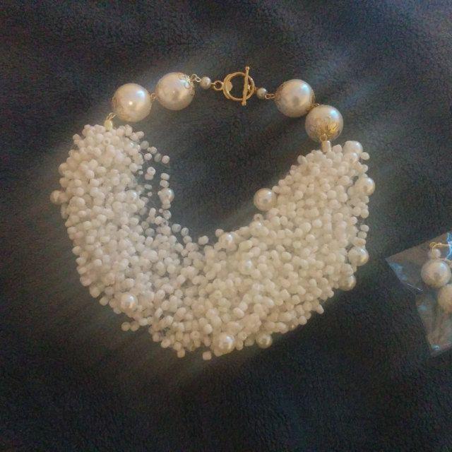 s Pearl Shiny White Seed Bracelet