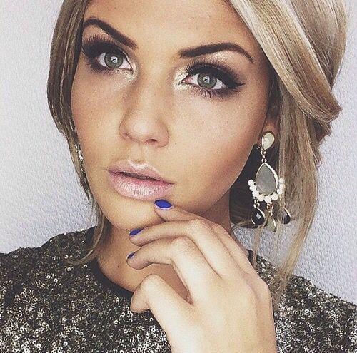 erstaunlich, blond, blau, blaue augen, erröten, boho, kontur, augenbrauen, wimpern, auge … – Make-Up