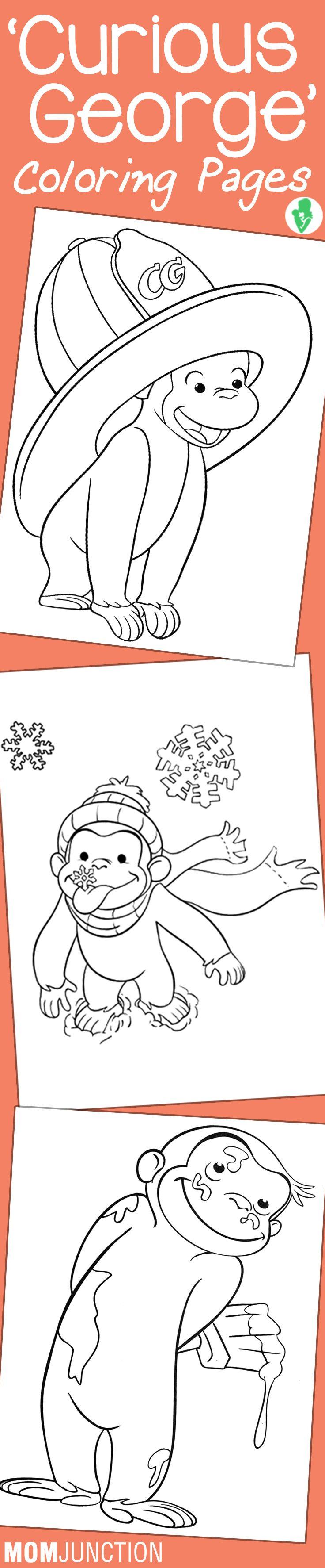 Krafty kidz center curious george coloring pages - Krafty Kidz Center Curious George Coloring Pages 15 Best Curious George Coloring Pages For Your Download