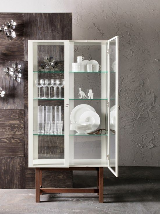25+ best ideas about Vitrine weiß on Pinterest | Vitrinenschrank ... | {Esszimmerschrank ikea 72}