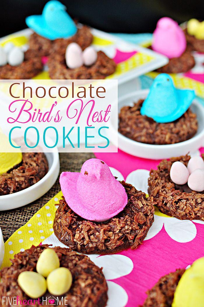 Chocolate Bird's Nest Cookies