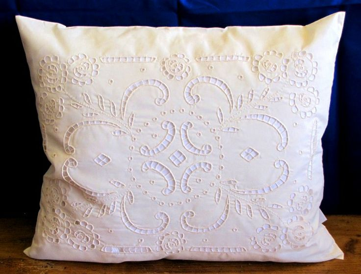 Handmade, embroidered pillow from Kalocsa.