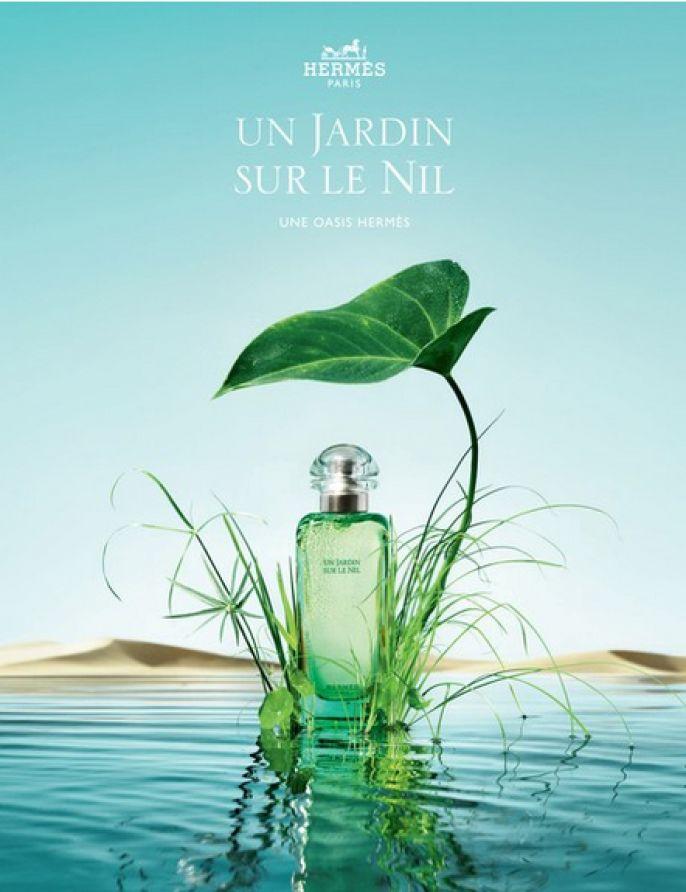 """Hermès - Eau de toilette """"Un Jardin sur le Nil""""."""