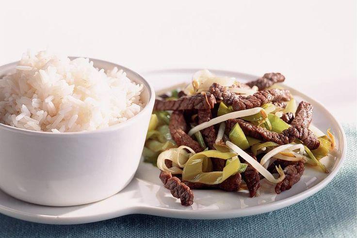 Albert Hein - Rijst met biefstukreepjes - Recept - Allerhande