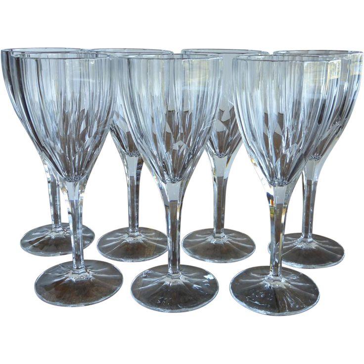 """Vintage Wine Glass Goblet Nachtmann Crystal Aspen Pattern 9"""""""