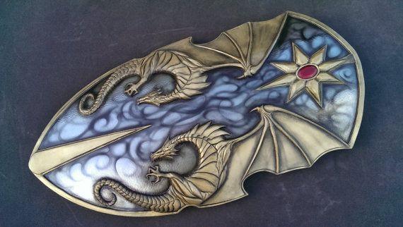Epic Dragon Knights shield. Larp safe