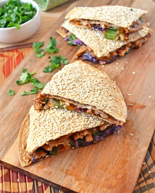 Sweet and Spicy Asian Pork Quesadillas. Fabulous flavor and makes quesadilla night something to remember!  | The Law Students Wife