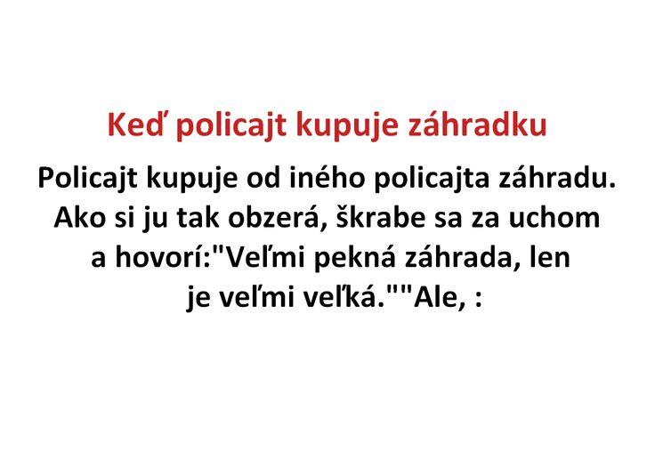 Keď policajt kupuje záhradku - Spišiakoviny.eu
