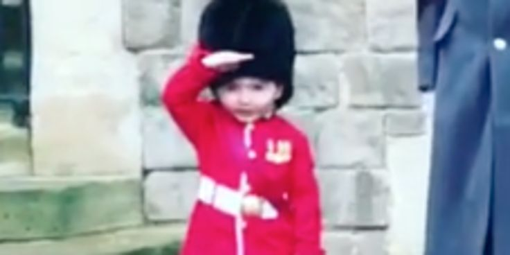 Queen's Guardsman Melts Hearts By Making Boy's Birthday Dream Come True