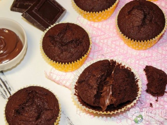 Ricetta per Muffin al Cioccolato con la Nutella