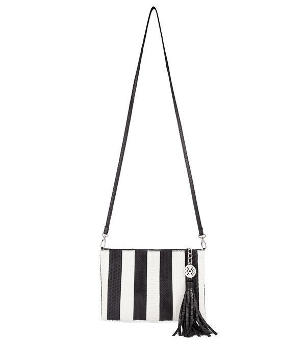 Nikki pouch with strap can be worn cross body as you like.