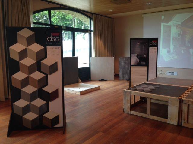 Palazzo Arzaga - meeting con Matteo Montebelli Mercato Edile. DSG #Ceramiche ha presentato la collezione di #gresporcellanato LIGHT