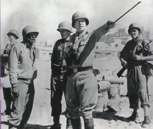 Lieutenant General Patton in North Africa, 1943.