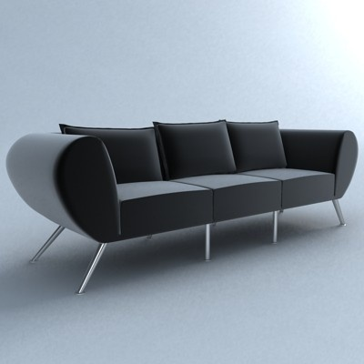 Detailed 3D Model of a Mojo chair by Hans Thyge Raunkjaer, 2002.   Producer: Stouby