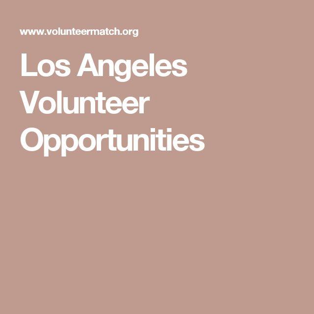 Los Angeles Volunteer Opportunities