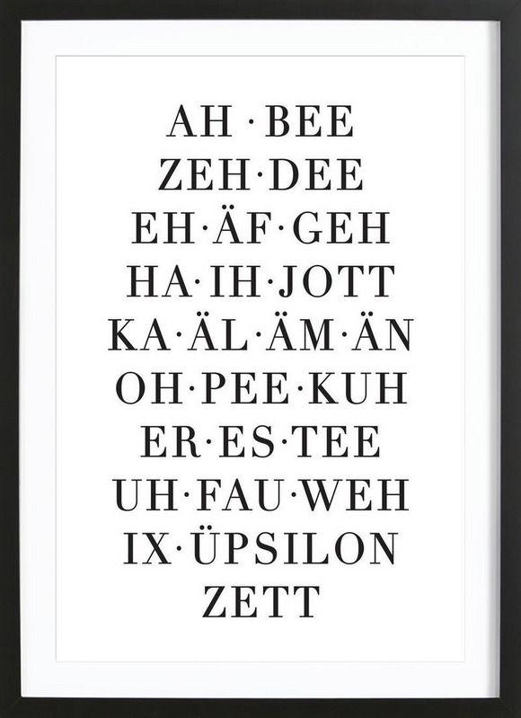 ABC – Eulenschnitt – Gerahmtes Poster – O