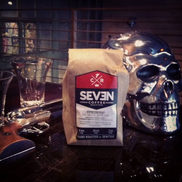 The coffee for our Glass Kona Vodka is hand roasted in small batches by Seven Coffee Roasters in Ballard.