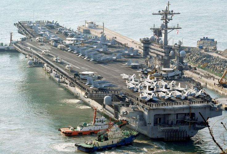 The fleet is expected to arrive near the Korean Peninsula this week.