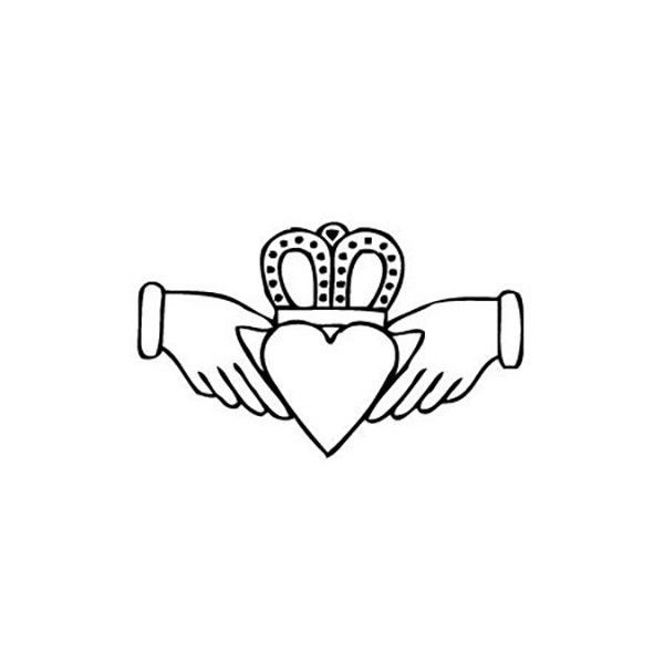 The Claddagh ring is a traditional Irish ring given which represents love, loyalty, and friendship. The hands represent friendship, the heart represents love, and the crown represents loyalty. This te