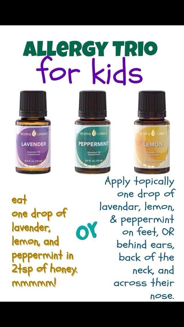 Allergy trio for kids if peppermint is too strong for them try