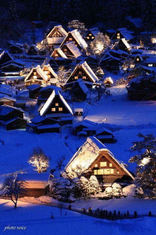 the World Heritage, Shirakawa Village in Gifu, Japan