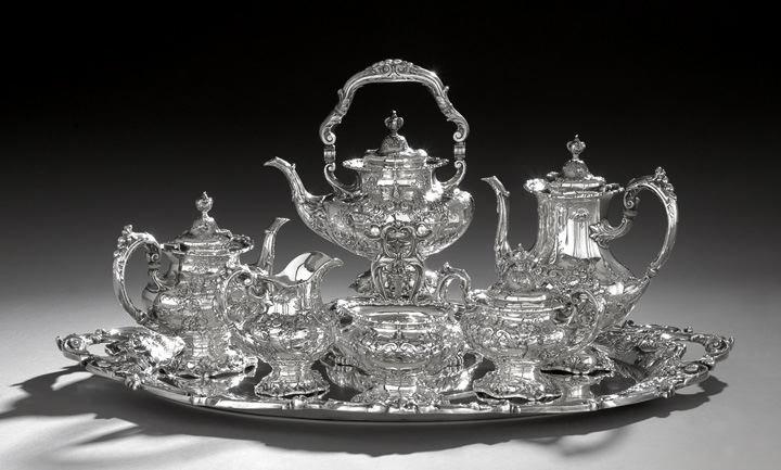 "Seven-Piece Reed & Barton ""Francis I"" Sterling Silver Tea & Coffee Set"