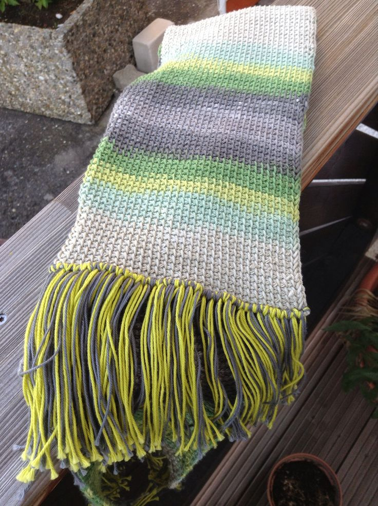 Simple stitch Tunisian crochet scarf! Number 4.5 hook