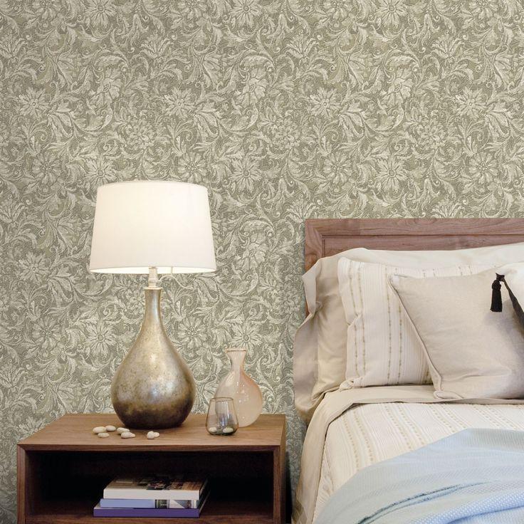Dise o papel pintado barroco tapiz verde papel pintado - Papel pintado barroco ...