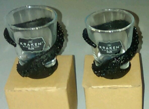 Kraken Rum Tentacle Wrapped Shot Glass Pair #KrakenRum