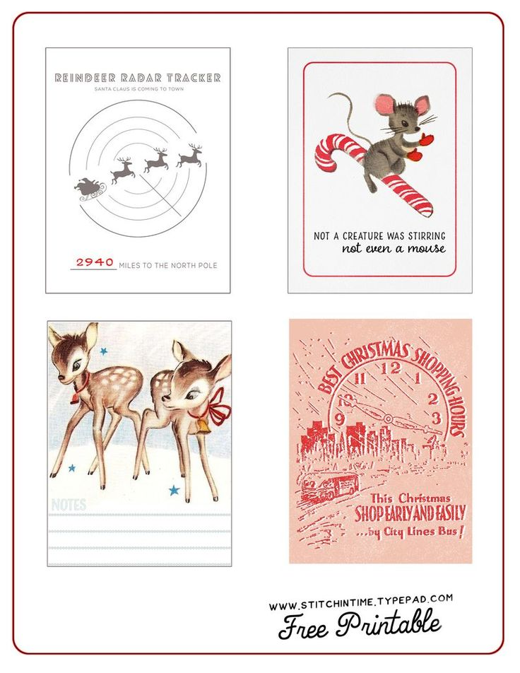 FREE December Daily Printables By Stitchintime