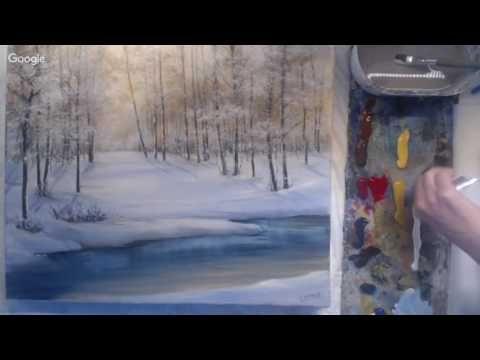 (80) Загадочный лес. Рисуем акриловыми красками. - YouTube