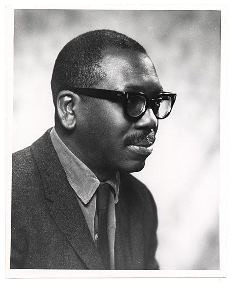Citation: Jacob Lawrence, 1966 / Geoffrey Clements, photographer. American Federation of Arts records, Archives of American Art, Smithsonian Institution.