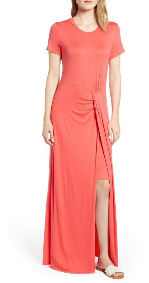 9be74037558 Caslon Front Gathered Maxi Dress