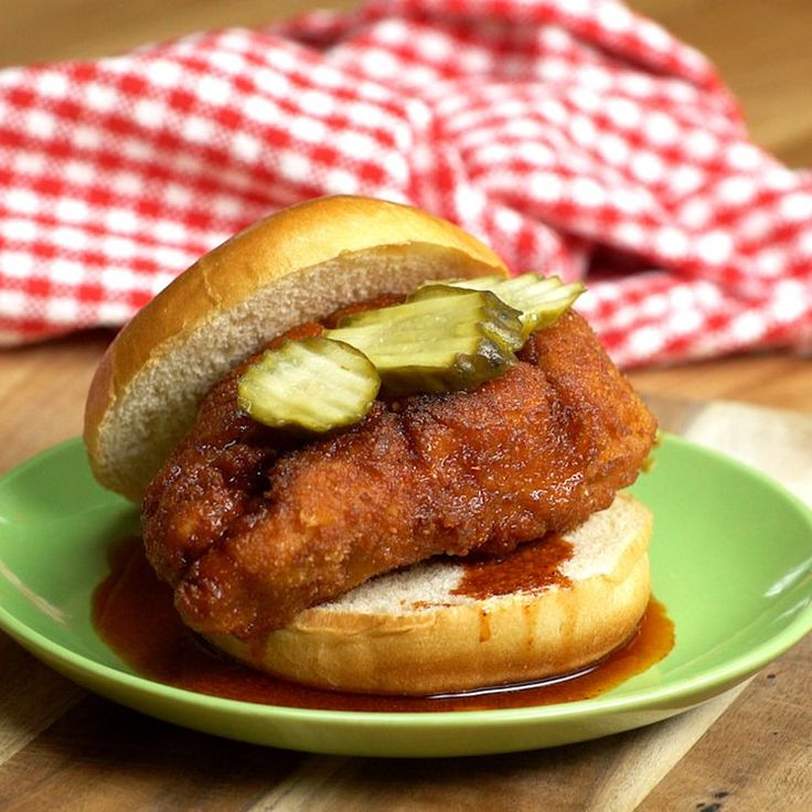The Nashville hot chicken is a well-known (and loved!) type of fried chicken originating from - you guessed it - Nashville, Tennessee! Typically served with sliced white bread and pickle chips, our spin on the Nashville Hot Chicken Sandwich will leave you happy and full from a delicious meal!