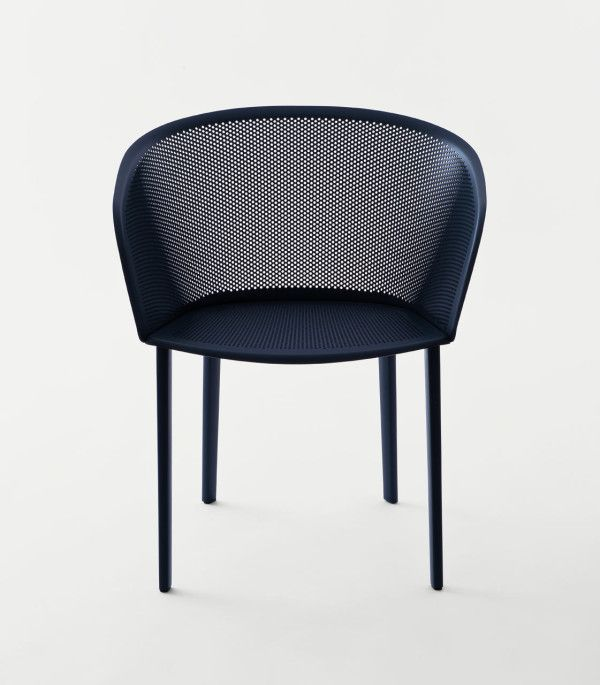 Kettal - stampa - Bouroullec - chair - armchair - outdoor - terrace - furniture - metal shell - perforated - black - blue