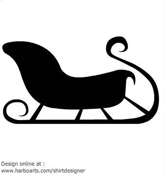 sleigh-silhouette-santa-christmas