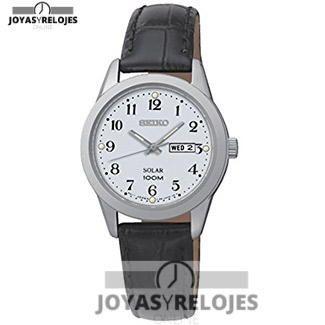 ⬆️✅ Seiko Solar para mujeres ⬆️✅ Maravilloso Modelo perteneciente a la Colección de RELOJES SEIKO ➡️ PRECIO 115.44 € En Oferta Limitada en  https://www.joyasyrelojesonline.es/producto/seiko-solar-reloj-de-cuarzo-para-mujer-correa-de-cuero-color-negro/  ¡¡Corre que vuelan!! #Relojes #RelojesSeiko #Seiko
