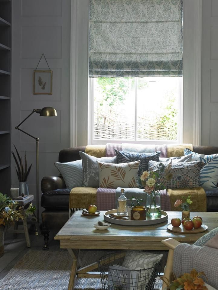 Pin By A B Interiors On Fabric Roman Blinds Country Living Room Home Decor House Styles #roman #blinds #living #room