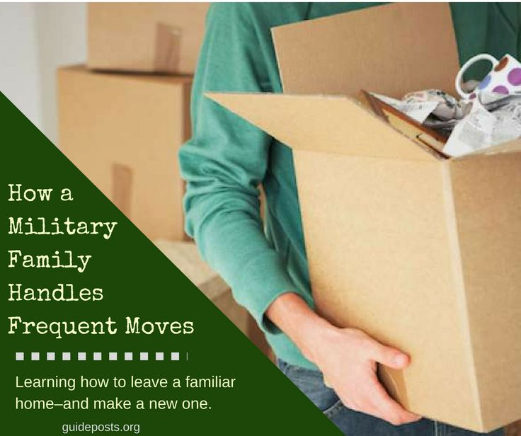 How a Military Family Handles Frequent Moves: Learning how to leave a familiar home–and make a new one.