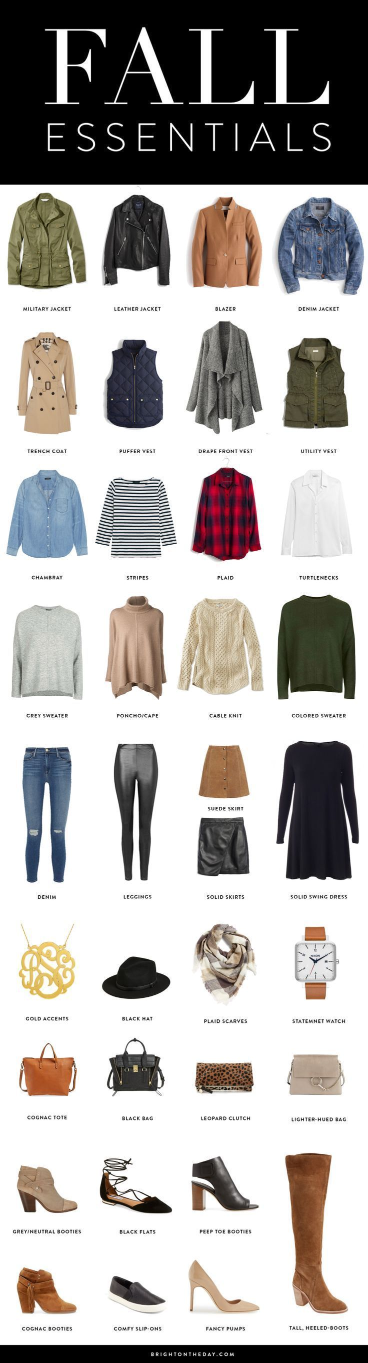 fall must haves, fall essentials, fall capsule wardrobe, fall basics for cute fall outfits #wardrobebasicsforfall